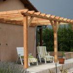 Auvent en bois pour terrasse