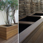 Bac en bois pour terrasse