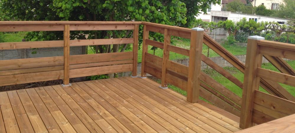 balustrade en bois pour terrasse
