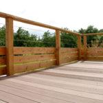 Barriere de terrasse en bois