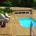 Bois terrasse piscine