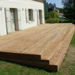 Escalier terrasse bois