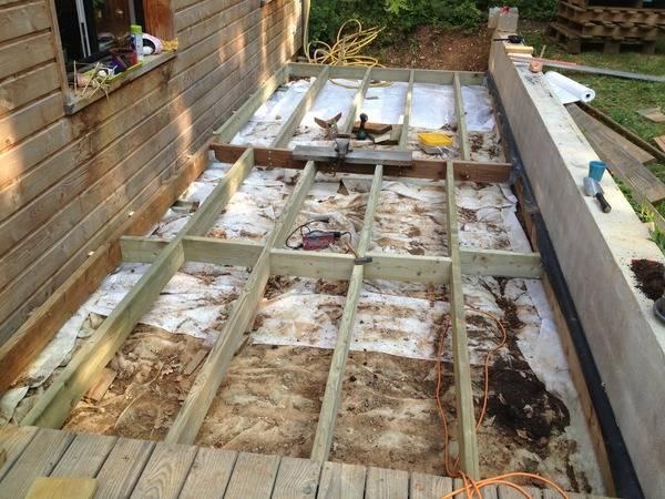 fondation terrasse bois