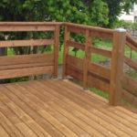 Garde corps en bois pour terrasse
