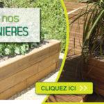 Jardiniere en bois pour terrasse