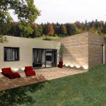 Maison bois toit terrasse