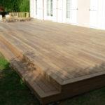 Marche terrasse bois