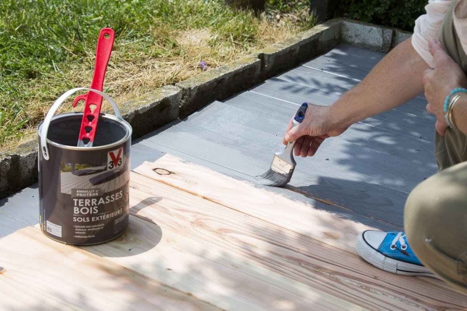 peindre terrasse bois