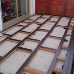 Pose lambourde terrasse bois