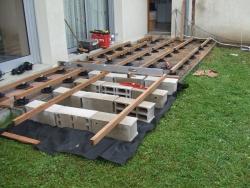 pose terrasse bois composite