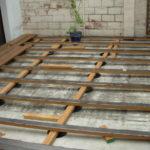 Pose terrasse bois sur dalle beton