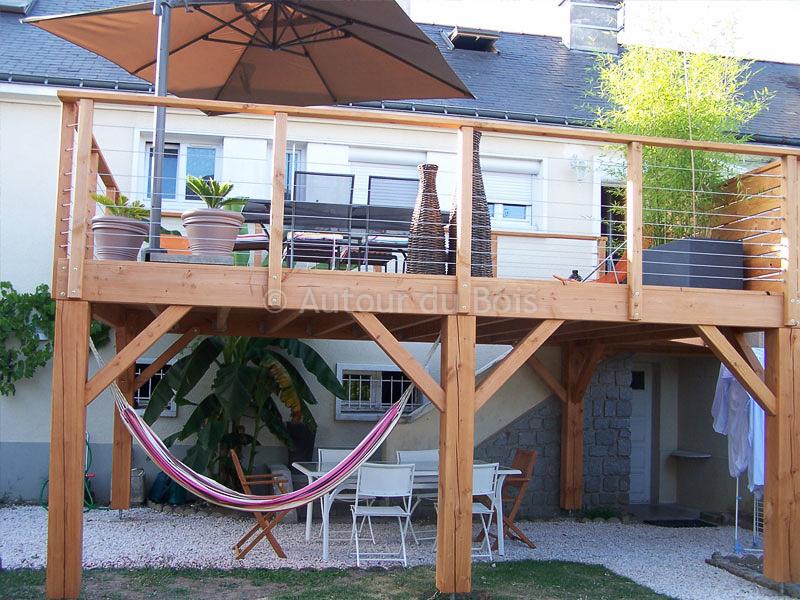 prix terrasse bois sur pilotis
