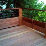 Rambarde bois terrasse
