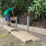 Retenue de terre en bois