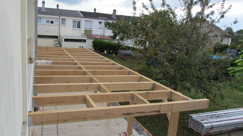 structure terrasse bois
