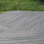 Terrasse bois composite gris