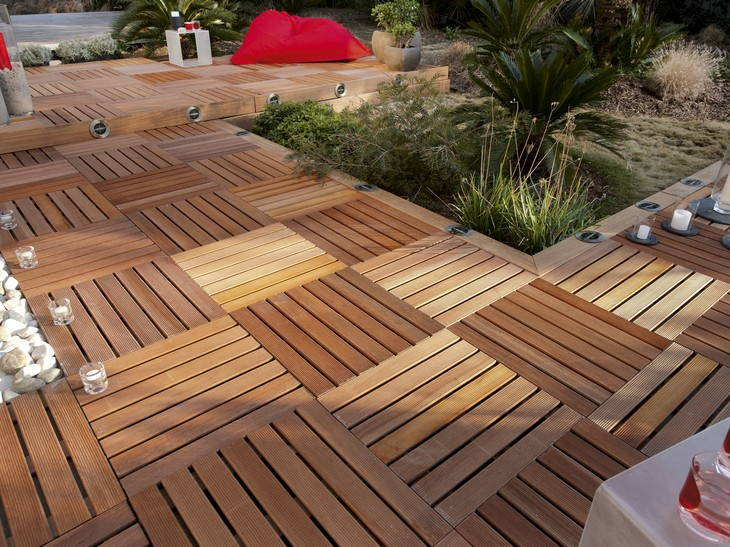 terrasse bois dalle