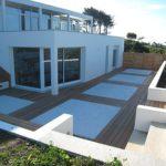 Terrasse bois et beton