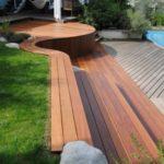 Terrasse bois et pierre