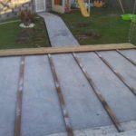 Terrasse bois sur dalle béton