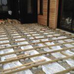 Terrasse bois sur plot beton