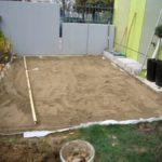 Terrasse bois sur sable