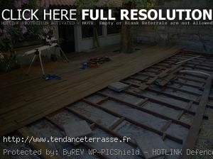 terrasse bois sur sol meuble