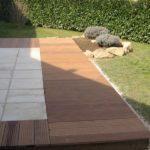 Terrasse carrelage et bois