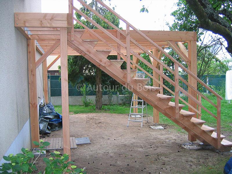 terrasse en bois sur pilotis en kit