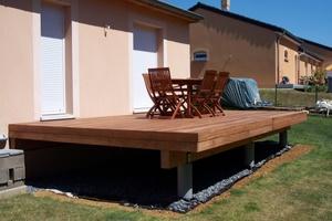 terrasse en bois surélevée