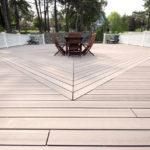 Terrasse en carrelage imitation bois