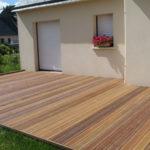 Terrasse en lame de bois