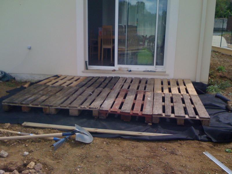 terrasse en palettes de bois