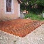 Terrasse palette bois