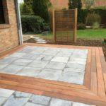 Terrasse pierre et bois