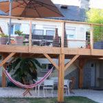 Terrasse sur pilotis en bois